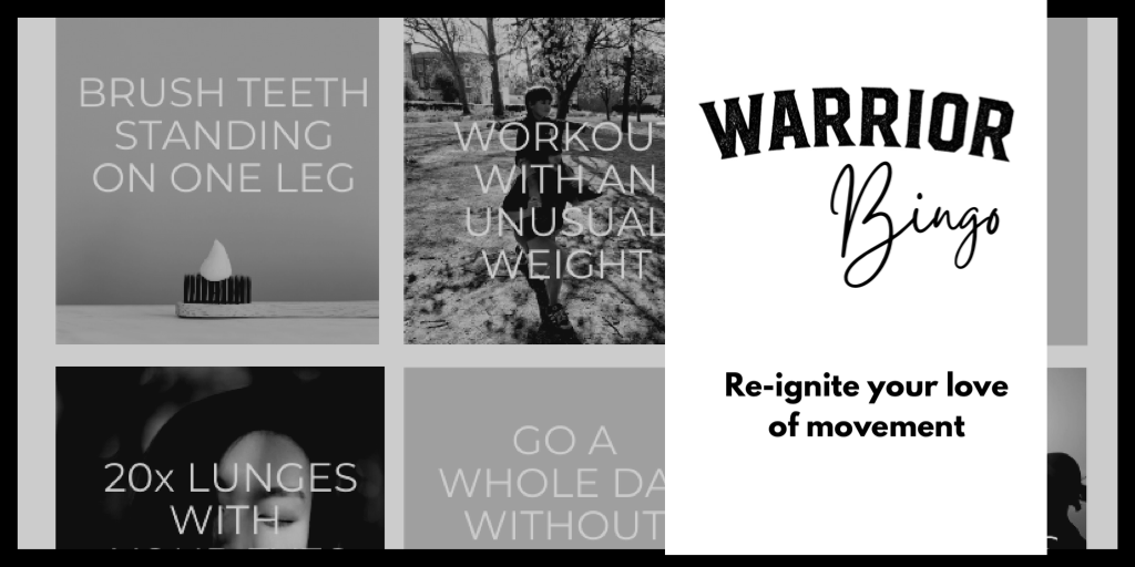Warrior fitness bingo